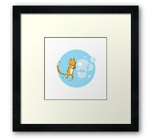 Cat and soap bubbles. Framed Print