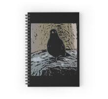 Inquisitive Blackbird Print Spiral Notebook