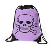 Skulls 3 by Chillee Wilson Drawstring Bag