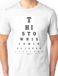 The Specials - Ghost Town Eye Chart Unisex T-Shirt