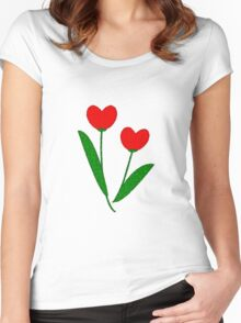 Tulip Hearts Women's Fitted Scoop T-Shirt