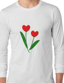 Tulip Hearts Long Sleeve T-Shirt
