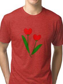 Tulip Hearts Tri-blend T-Shirt