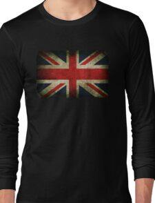 Grungy Union Jack Long Sleeve T-Shirt
