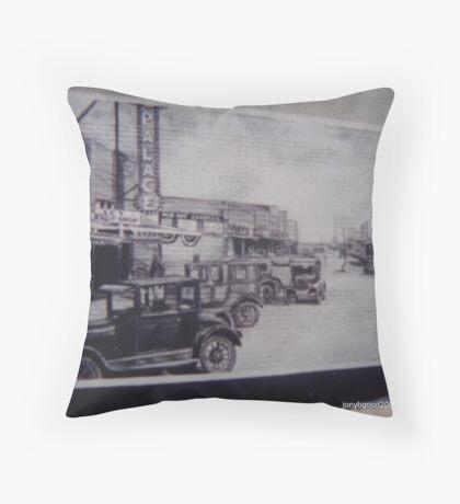Olney Texas Mural Throw Pillow
