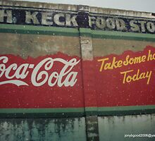 Knox City Texas Mural of Coke by Billy Ines