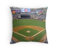 Yankee Stadium April 4, 2009 Cubs Vs Yankees Throw Pillow