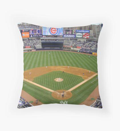 Yankee Stadium April 4, 2009 Cubs Vs Yankees Throw Pillow