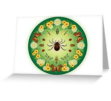 L'Aranja, the captivation of the spider's web Greeting Card