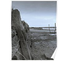 Sea Defence at Burnham Overy Straithe, North Norfolk Poster