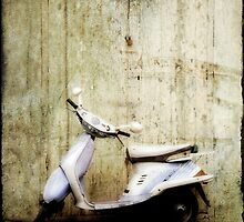 Leaning Moped by eyeshoot