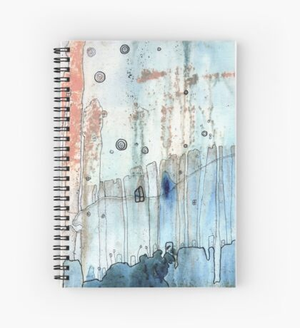 """""""Moody"""" art by C.Cambrea Spiral Notebook"""