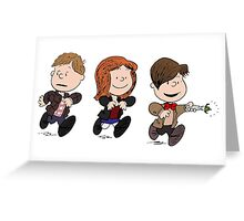Doctor Who and Amy Pond Greeting Card