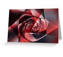 Abstract Spiral Rose Greeting Card