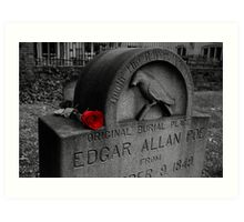 Poe's Red Rose Art Print