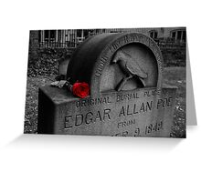 Poe's Red Rose Greeting Card