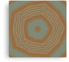 Geode Abstract:  Geometric Nature Pattern in Rust Red and Stone Grey 3 Canvas Print