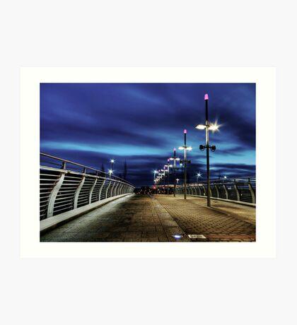 Partick Expressway Bridge - Glasgow Art Print