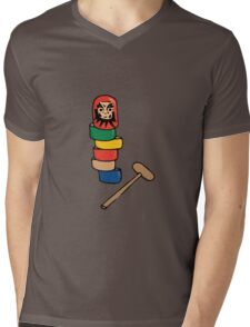 Japanese Daruma Otoshi (Plain Background) Mens V-Neck T-Shirt