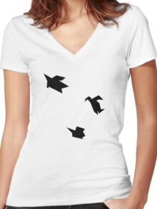 The Flock Women's Fitted V-Neck T-Shirt
