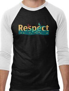 Respect our planet Men's Baseball ¾ T-Shirt