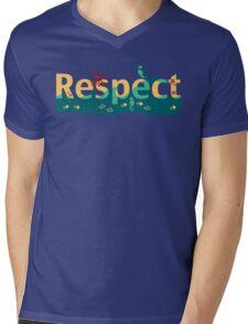 Respect our planet Mens V-Neck T-Shirt