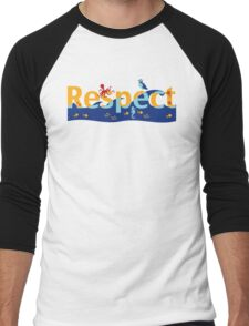 Respect our planet Men's Baseball ¾ T-Shirt