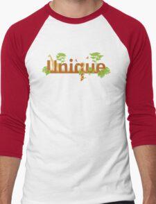 Unique planet safari design Men's Baseball ¾ T-Shirt