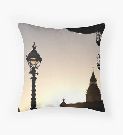 Dusk in Westminster Throw Pillow