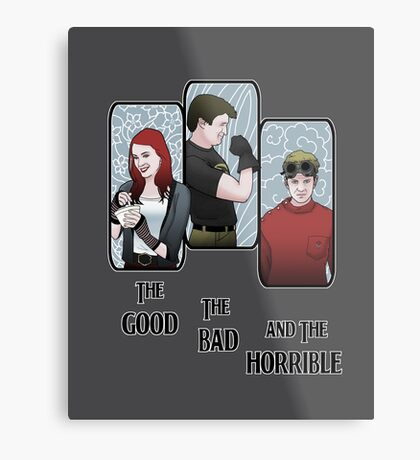 The Good, The Bad, and the Horrible Metal Print