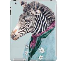 Zebra Blue iPad Case/Skin