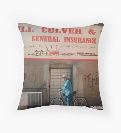 Seymour Texas Mural/ad Throw Pillow