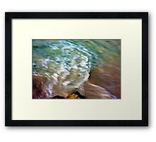 Beauty of moving sea water... Framed Print