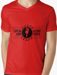 I speak fluent song lyrics Mens V-Neck T-Shirt