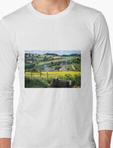 Midsummer Smoke In An English Valley Long Sleeve T-Shirt
