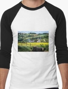 Midsummer Smoke In An English Valley Men's Baseball ¾ T-Shirt