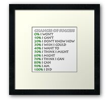 Chances of success! Framed Print