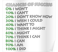 Chances of success! Poster
