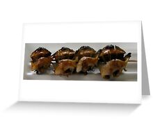 Snails, Cooked to Order Greeting Card