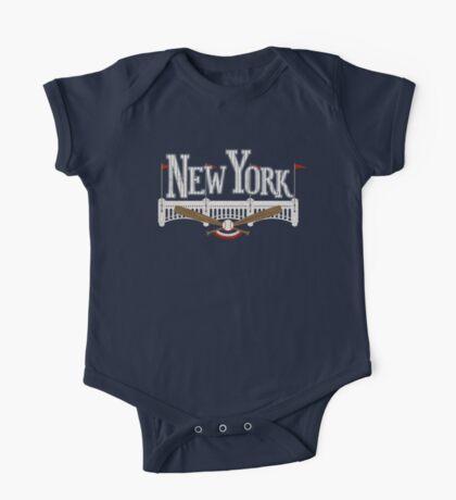 New York Baseball One Piece - Short Sleeve