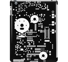 Motherboard Face - White on Black iPad Case/Skin