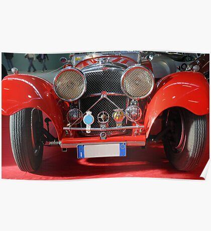 Vintage car.  Poster