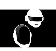 B&W Daft Punk by TheFrisby