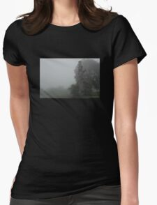 Dead Tree on a Foggy Morning Womens Fitted T-Shirt