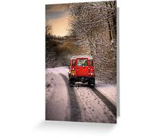 Out in the Snow Greeting Card