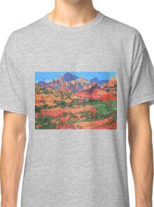 Sedona Arizona Red Rock Painting Classic T-Shirt
