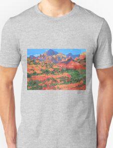 Sedona Arizona Red Rock Painting Unisex T-Shirt