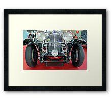 Vintage car.  Framed Print