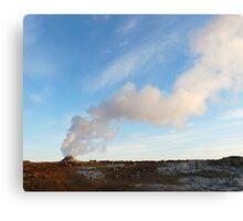 Steamy earth Canvas Print