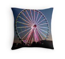 Summertime Ferris Wheel Throw Pillow